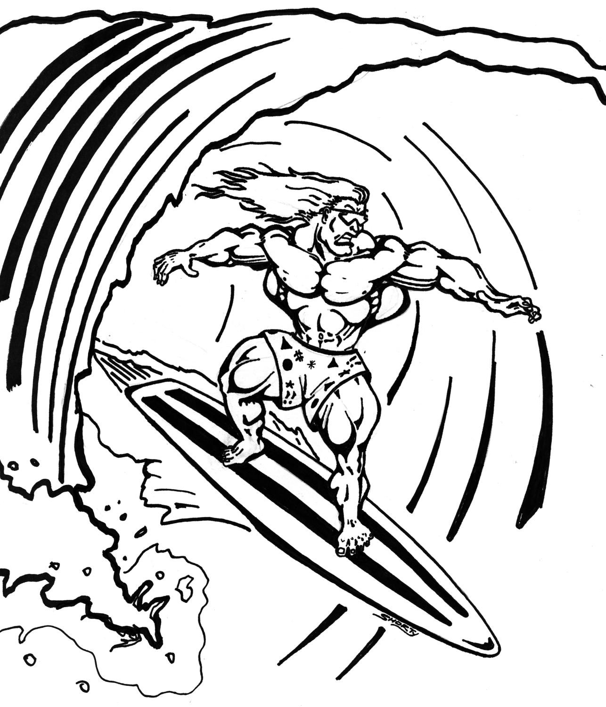 Surfing Coloring Pages  Surfing Coloring Pages