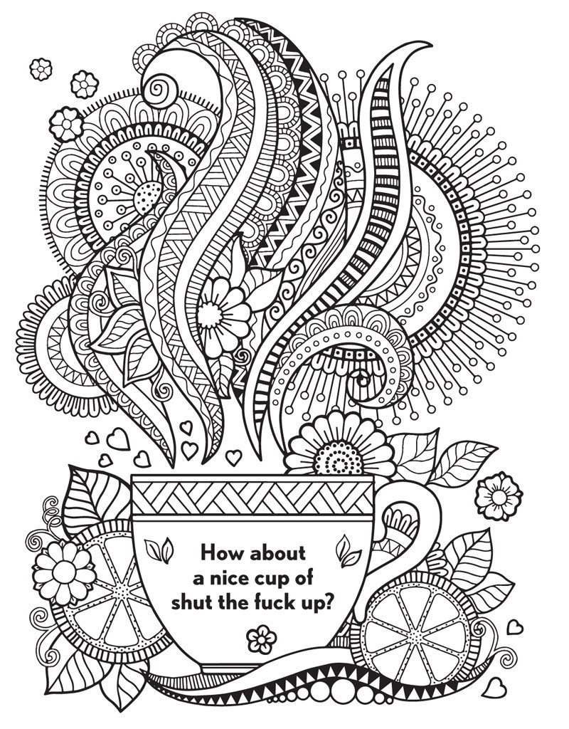 Swear Word Coloring Pages Printable Free  curse word coloring pages