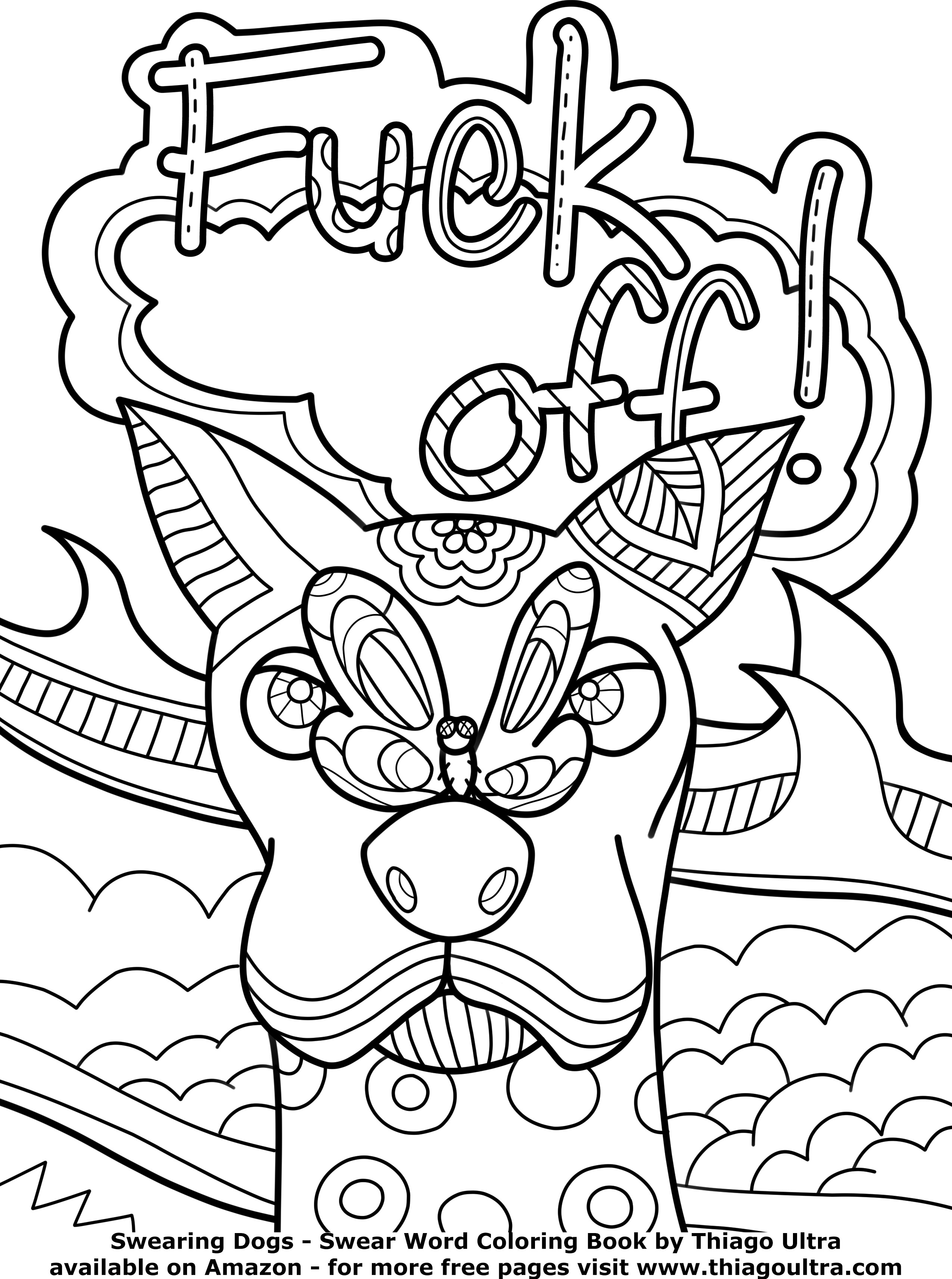 Swear Word Coloring Pages Printable Free  Swear Word Coloring Pages Free Free Printable Adult