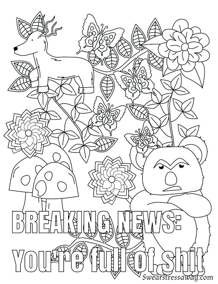 Swear Word Coloring Pages Printable Free  kitchen Swear word coloring pages printable free