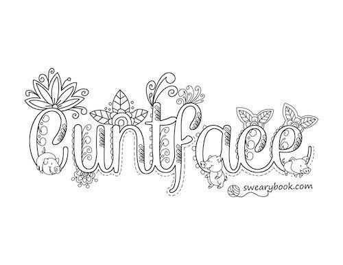 Swear Word Coloring Pages Printable Free  Swear Word Coloring Pages Coloring Pages