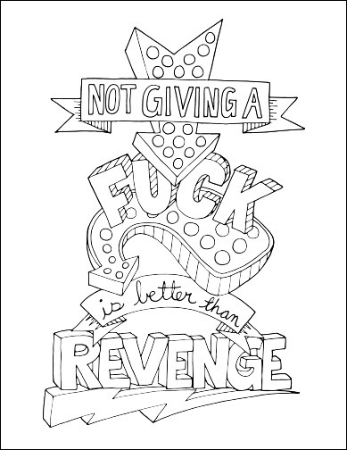 Swear Word Coloring Pages Printable Free  Free Printable Coloring Pages For Adults Swear Words