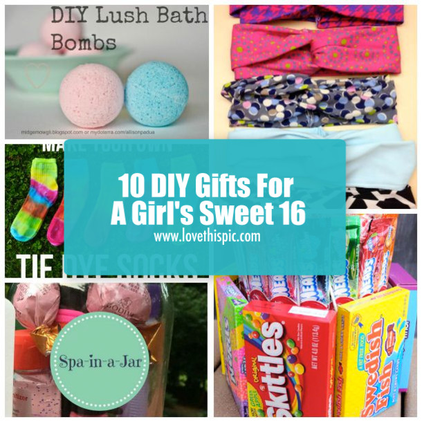 Sweet Sixteen Gift Ideas For Girls  10 DIY Gifts For A Girl s Sweet 16
