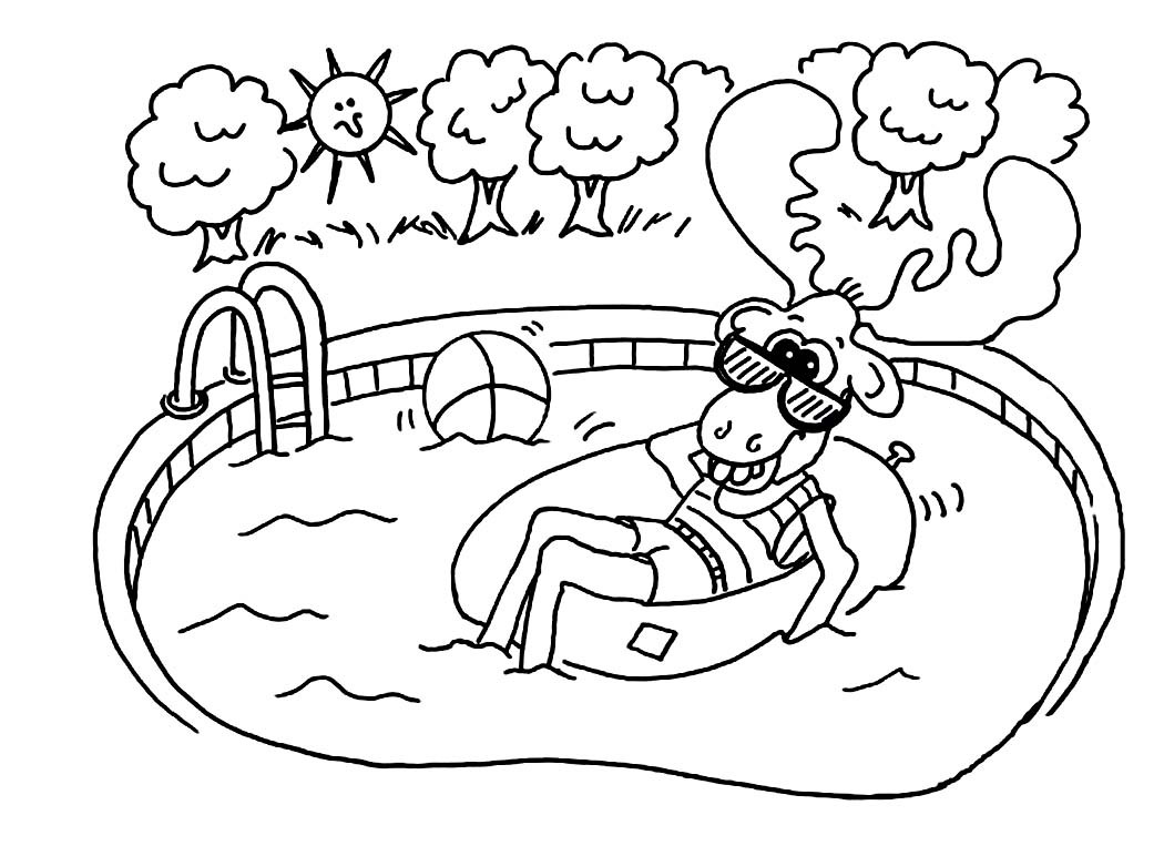 Swim Coloring Pages  Swim Coloring Pages Printable