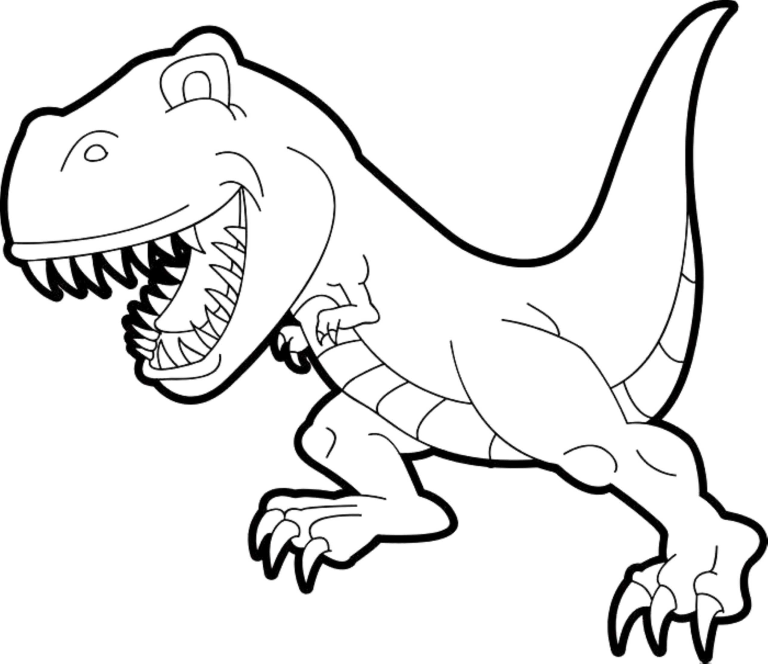 T Coloring Pages For Kids  Insider Scary Dinosaur Coloring Pages Simple T Rex Kids