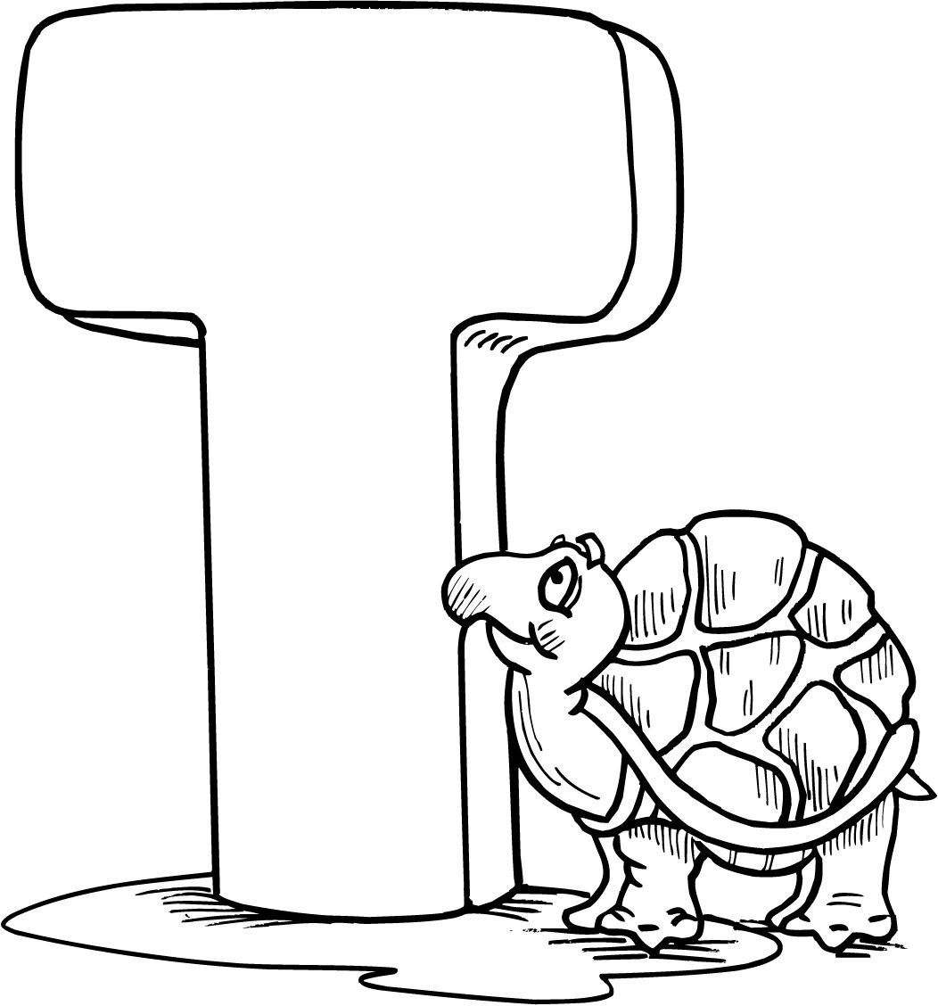 T Coloring Pages For Kids  letter t printable coloring pages for preschoolers
