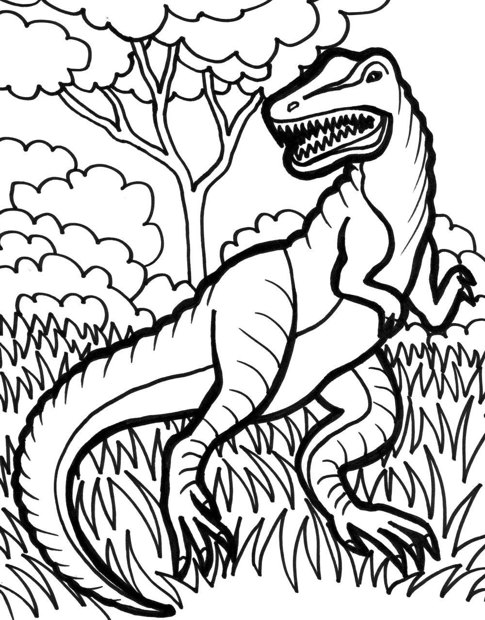 T Coloring Pages For Kids  TRex Coloring Pages Best Coloring Pages For Kids