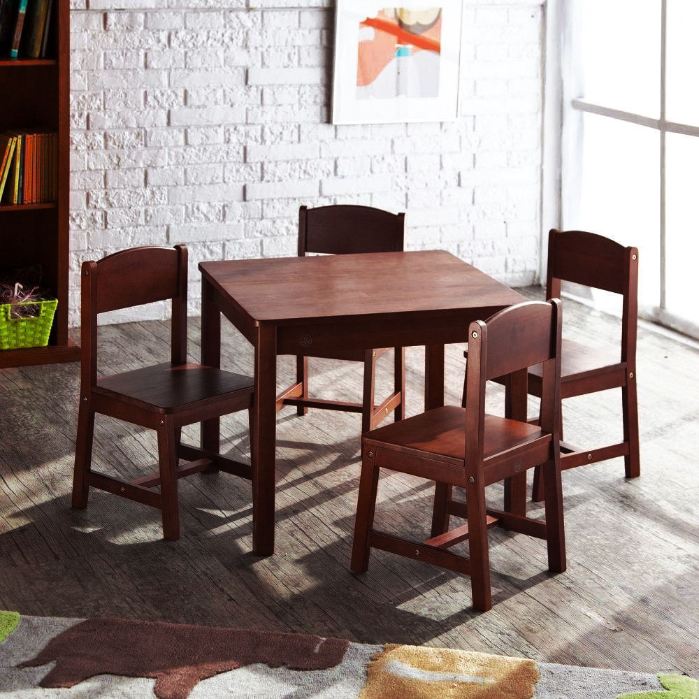 Best ideas about Table And Chair Set . Save or Pin NEW KidKraft Sturdy Farmhouse Wooden Table and Chair Set Now.