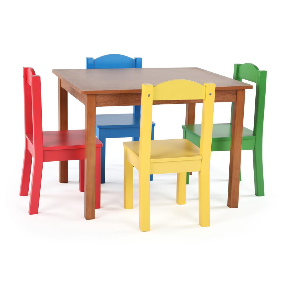 Best ideas about Table And Chair Set . Save or Pin Tot Tutors Highlight 5 Piece Natural Primary Kids Table Now.