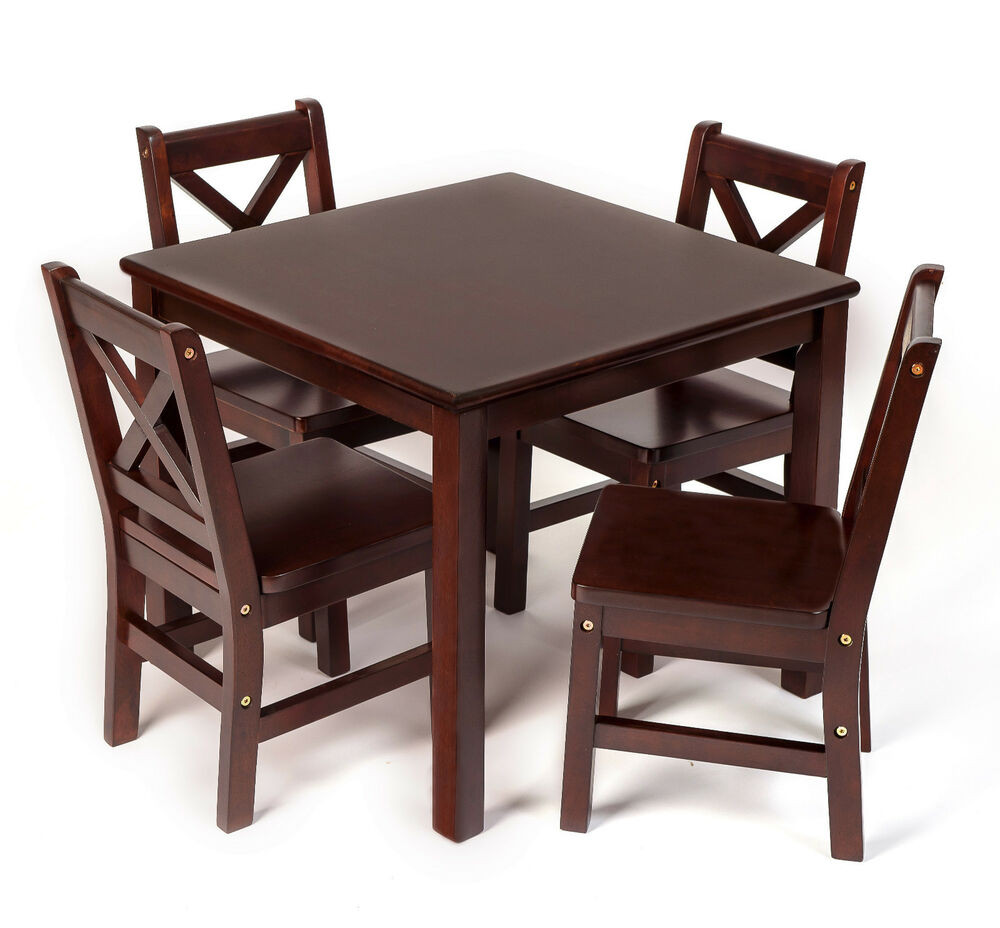 Best ideas about Table And Chair Set . Save or Pin Kids Table and Chair Set 5 Pcs Solid Hard Wood in Now.