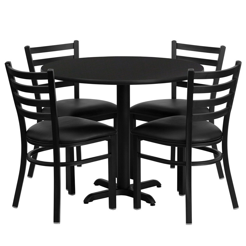 """Best ideas about Table And Chair Set . Save or Pin Cafe Restaurant Table & Chair Set 36"""" Round Table 4 Chairs Now."""