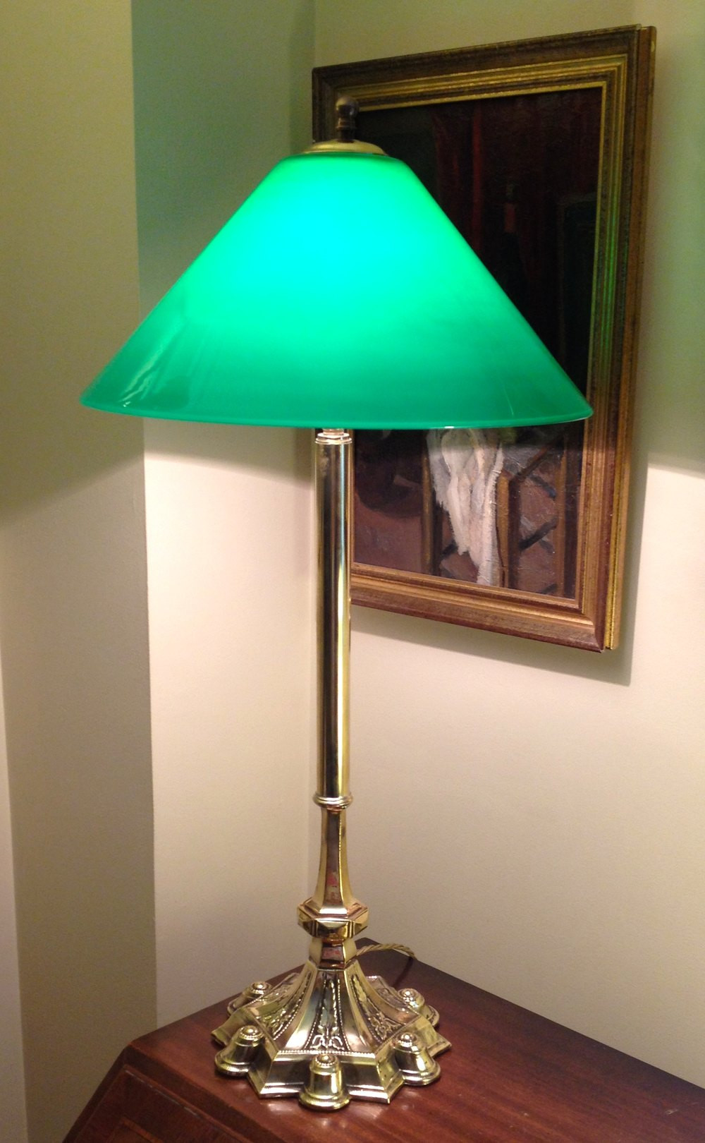 Best ideas about Tall Desk Lamp . Save or Pin Antiques Atlas Tall Edwardian Desk Table Lamp Brass And Now.
