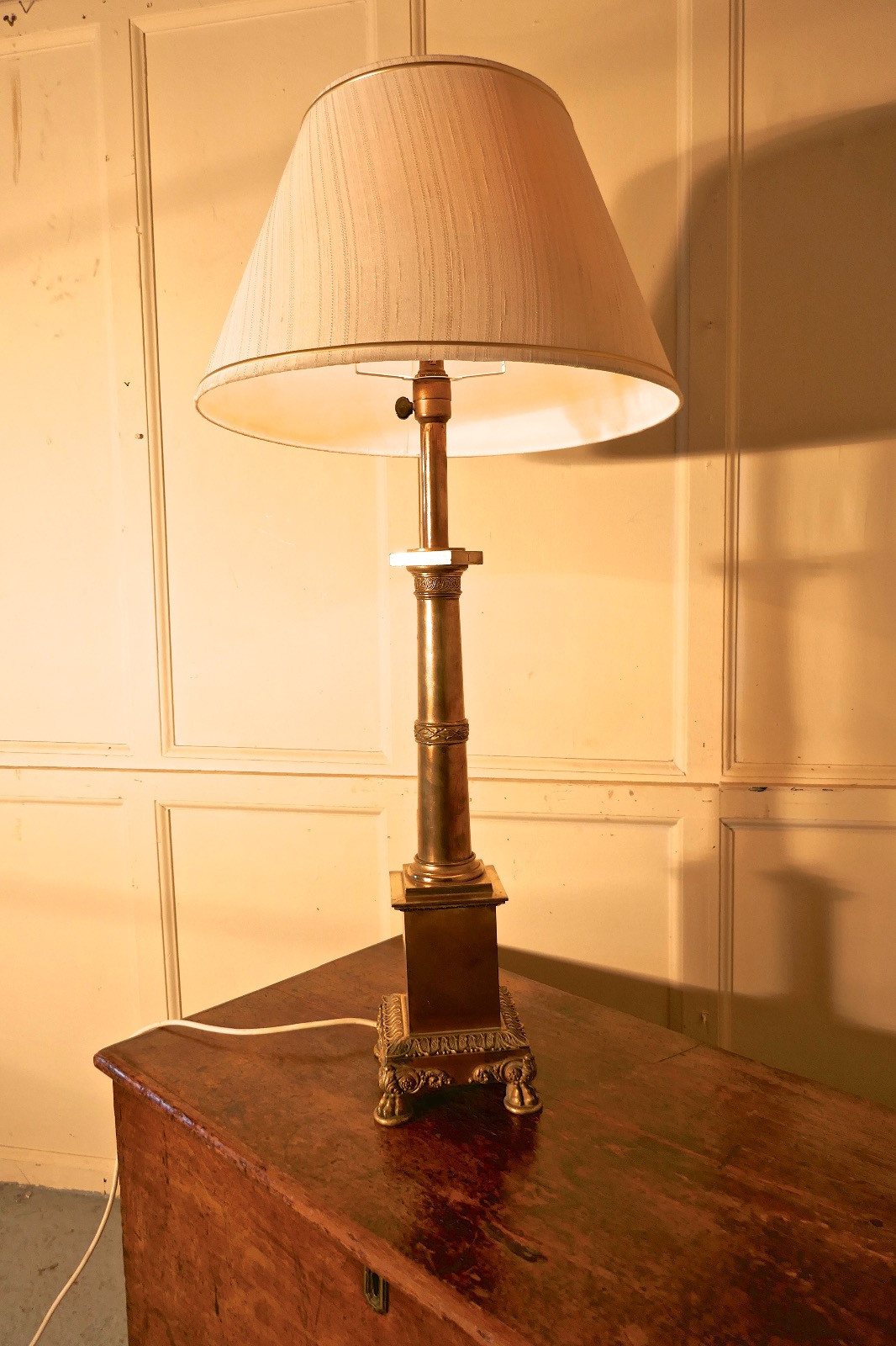 Best ideas about Tall Desk Lamp . Save or Pin Tall Brass Table Lamp c 1900 THT140 LA Now.