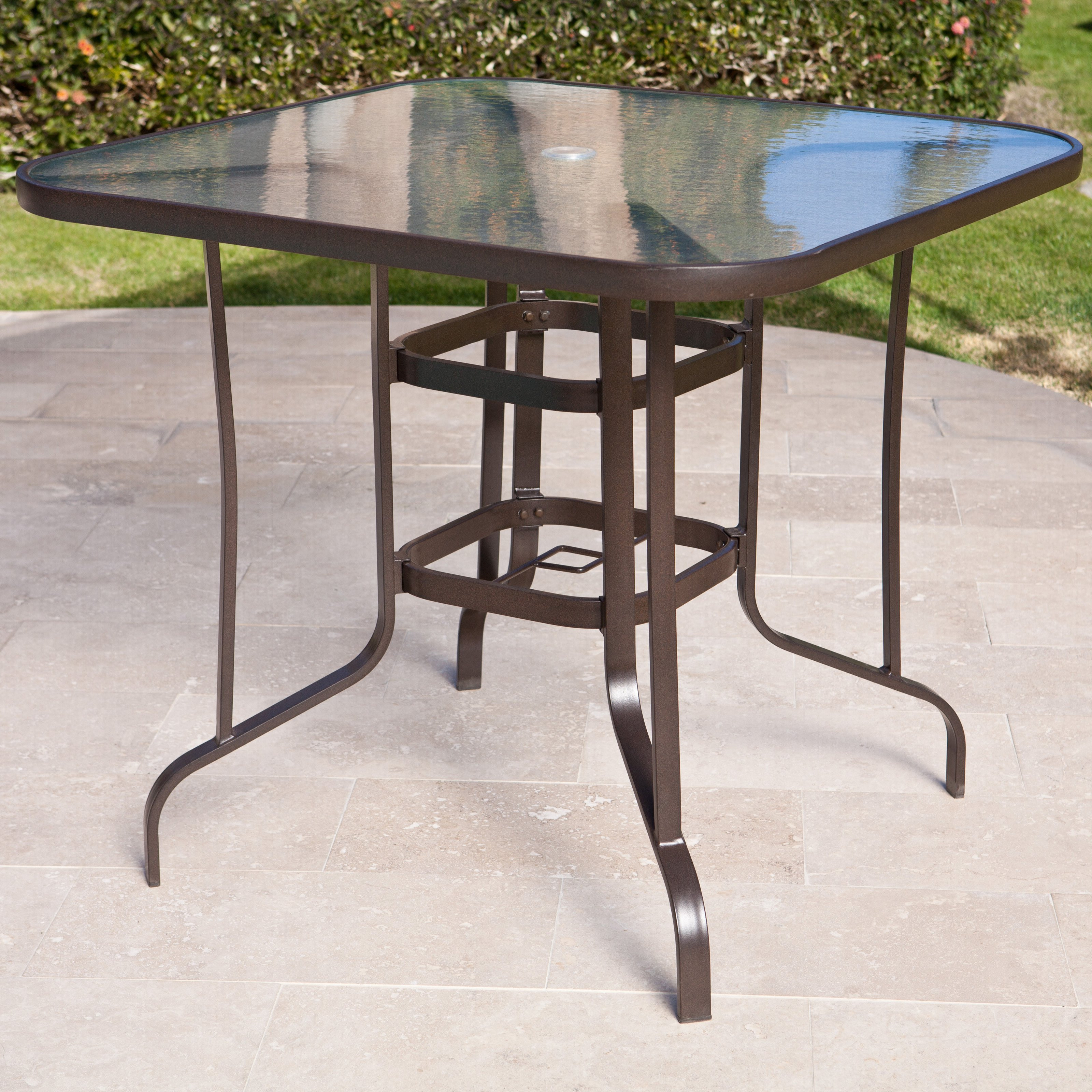 Best ideas about Tall Patio Table . Save or Pin Coral Coast Del Rey Balcony Height Outdoor Dining Table Now.