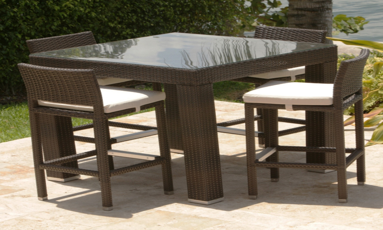 Best ideas about Tall Patio Table . Save or Pin Outdoor bar table and chairs tall patio table outdoor Now.