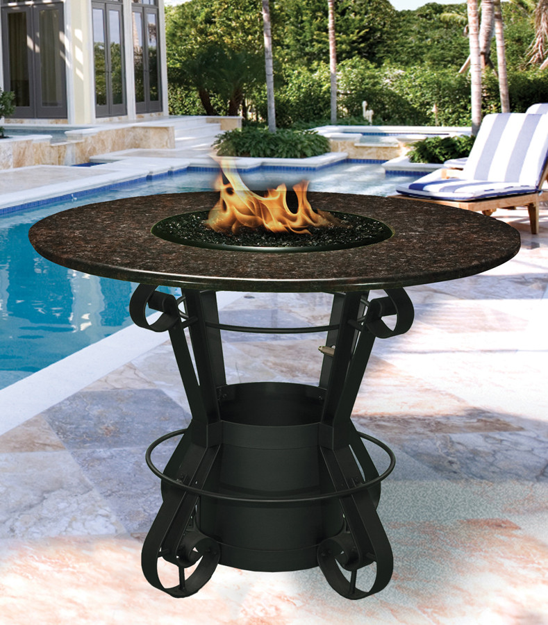 Best ideas about Tall Patio Table . Save or Pin California Outdoor Concepts 1030 Solano Bar Height Fire Pit Now.
