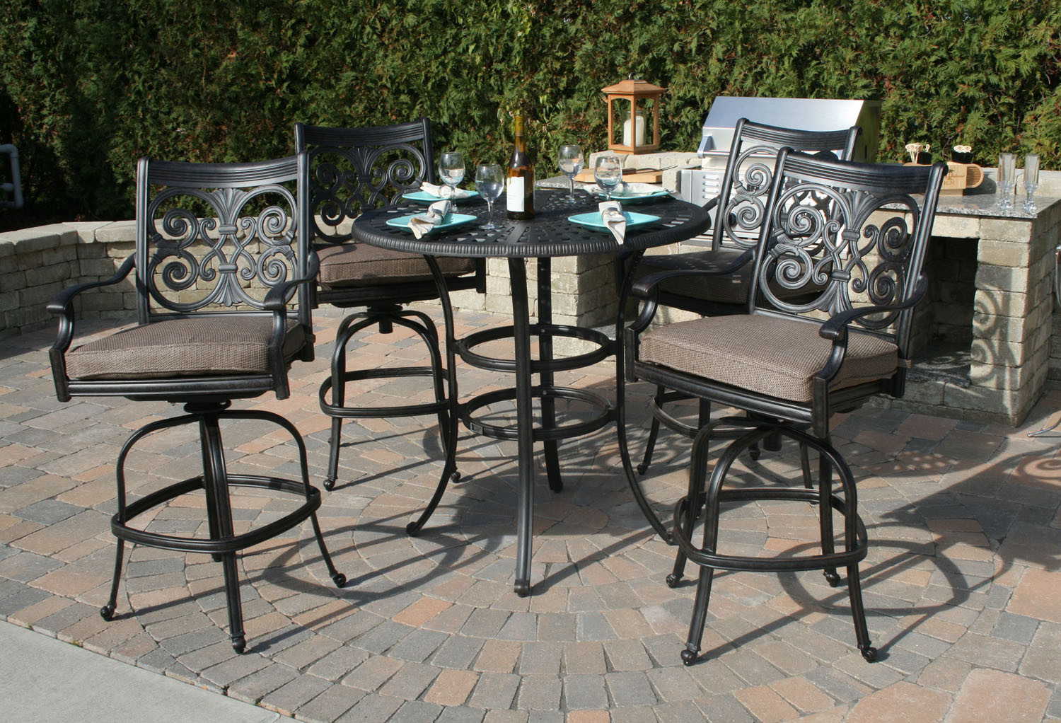 Best ideas about Tall Patio Table . Save or Pin Swivel Patio Chairs Tall — All Home Design Ideas Table Now.