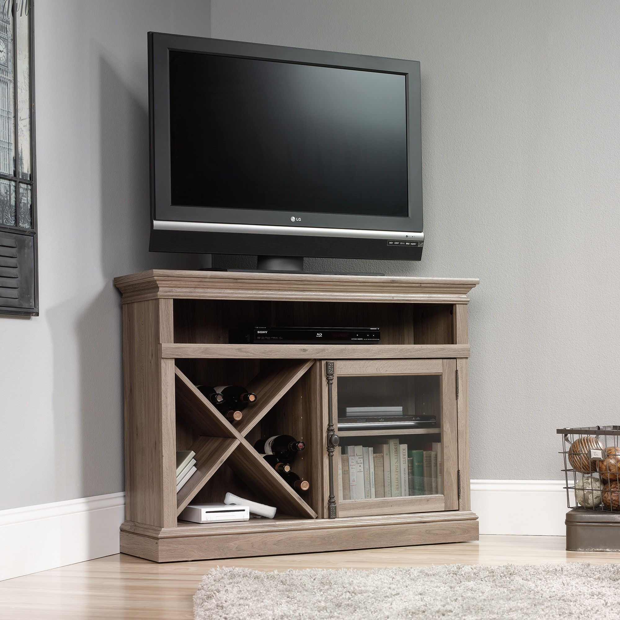 Best ideas about Tall Tv Stands For Bedroom . Save or Pin Find Out Full Gallery of Elegant Tall Corner Tv Stand for Now.