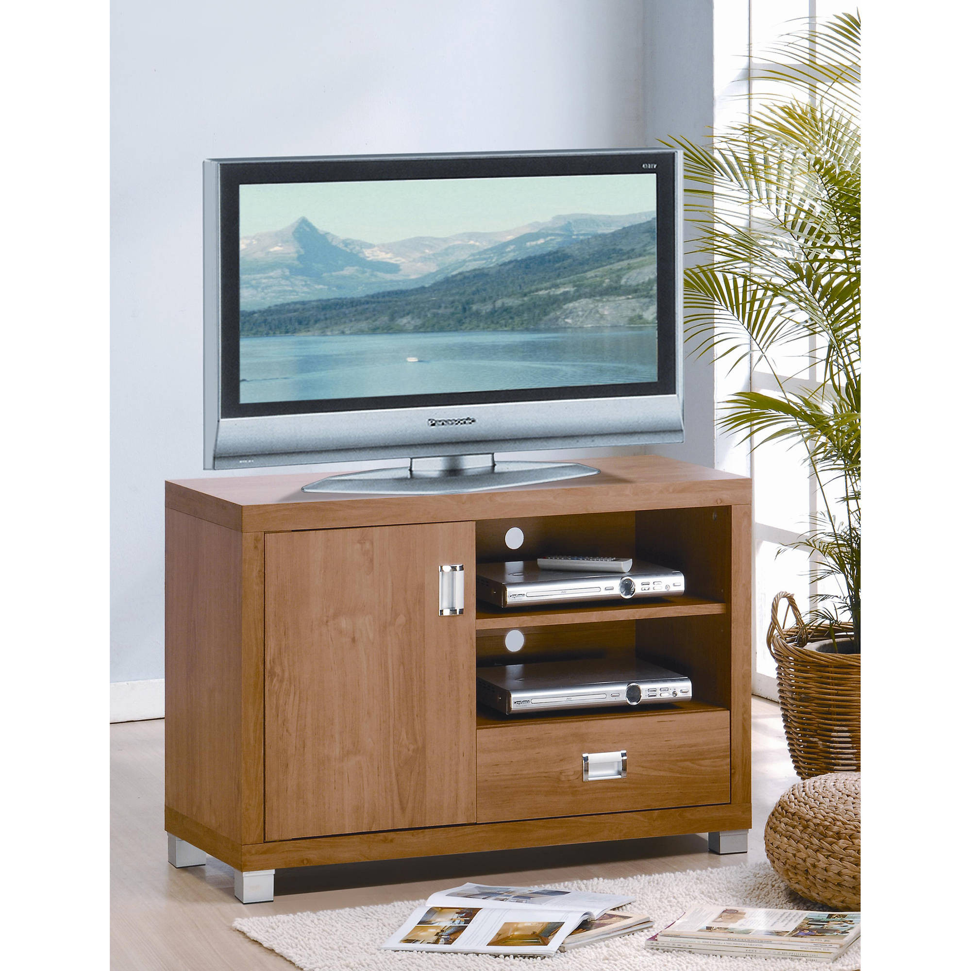 Best ideas about Tall Tv Stands For Bedroom . Save or Pin Modern Tall Oak Tv Stand With Media Cabinet For Bedroom of Now.