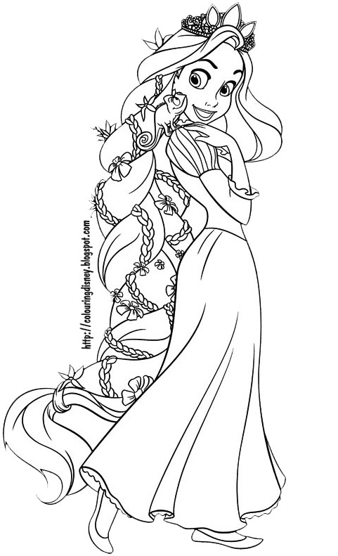 Tangled Coloring Pages For Girls  rapunzel coloring pages