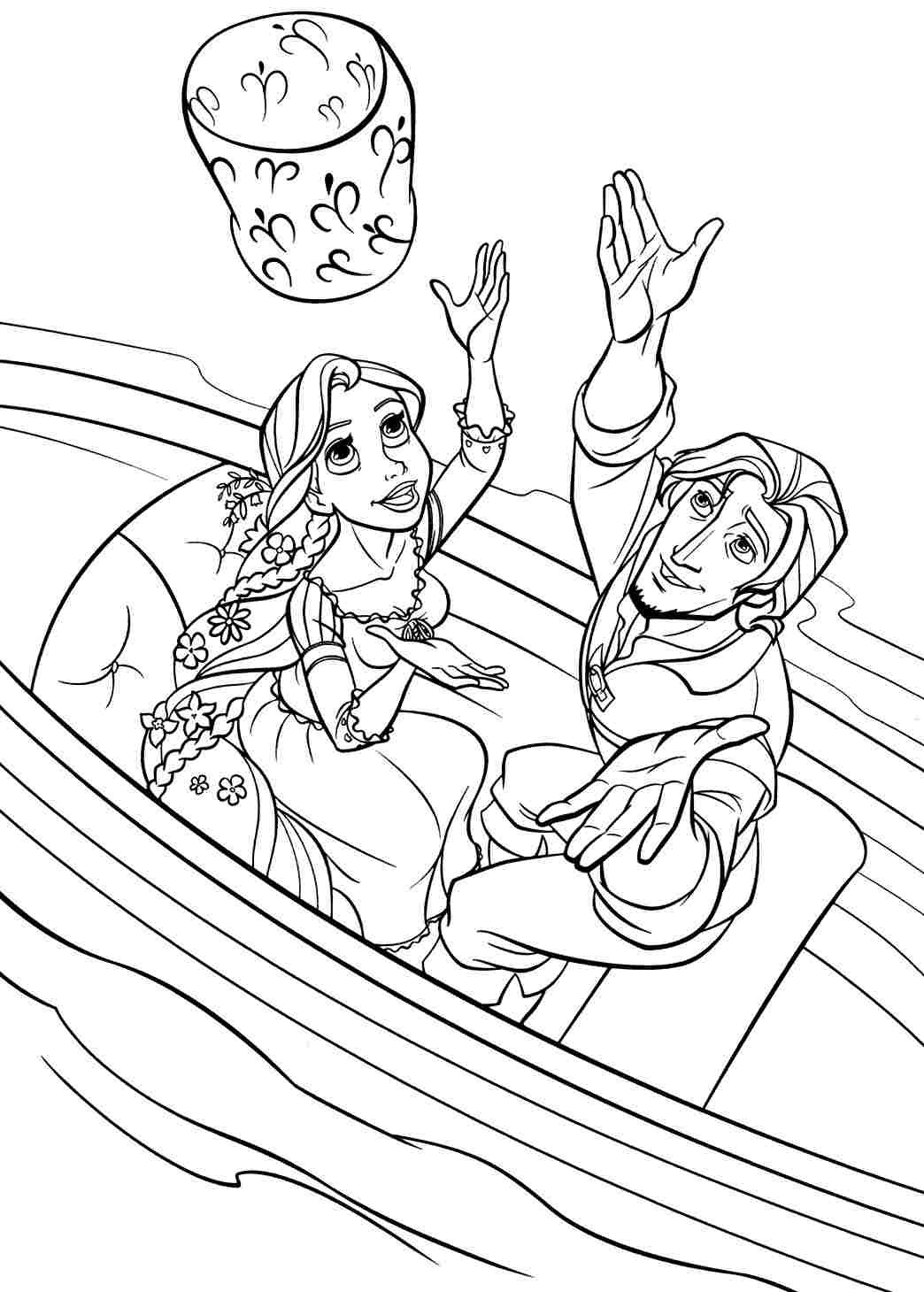 Tangled Coloring Pages For Girls  Rapunzel Coloring Page thekindproject