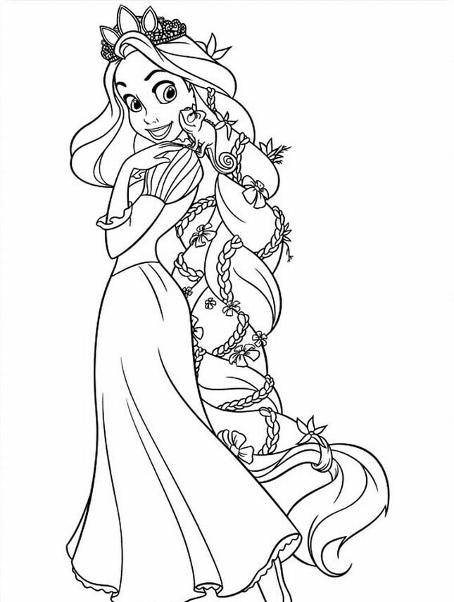 Tangled Coloring Pages For Girls  Free Printable Tangled Coloring Pages For Kids