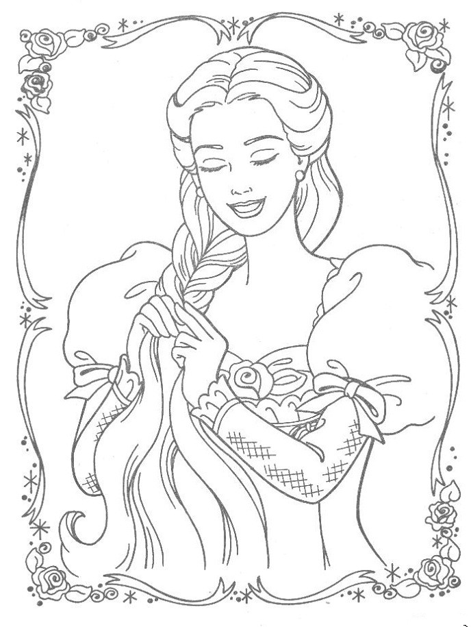 Tangled Coloring Pages For Girls  Tangled Coloring Pages For Girls – Color Bros