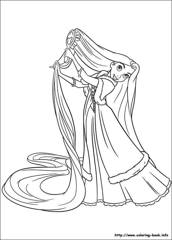 Tangled Coloring Pages For Girls  Its Tangled Ranpunzel coloring pages Print Color Craft