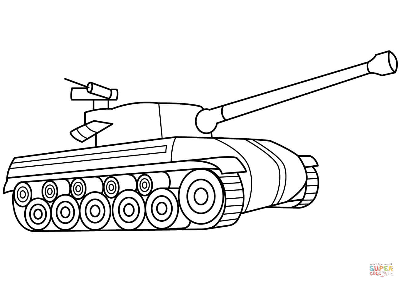 Tanks Coloring Pages  Tank coloring page