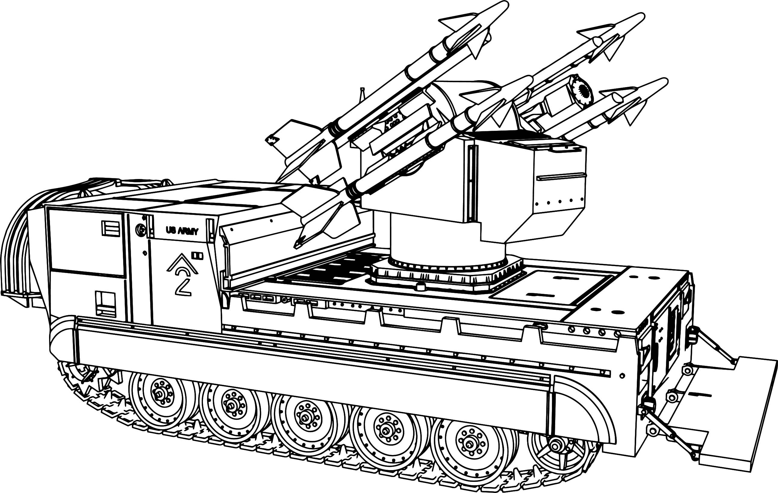 Tanks Coloring Pages  M730a1 Tank Coloring Page