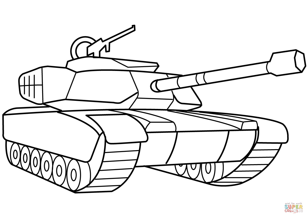 Tanks Coloring Pages  Military Tank coloring page