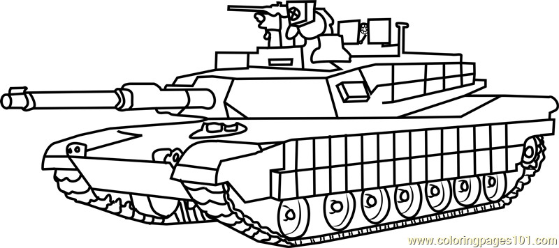 Tanks Coloring Pages  M1 Abrams Army Tank Coloring Page Free Tanks Coloring