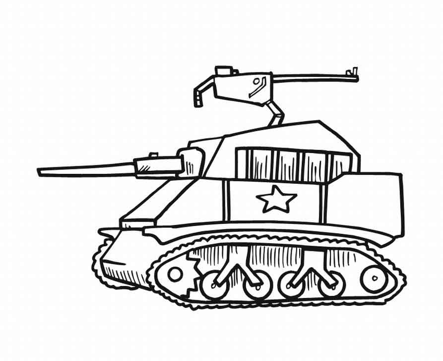 Tanks Coloring Pages  Military Tank Coloring Pages