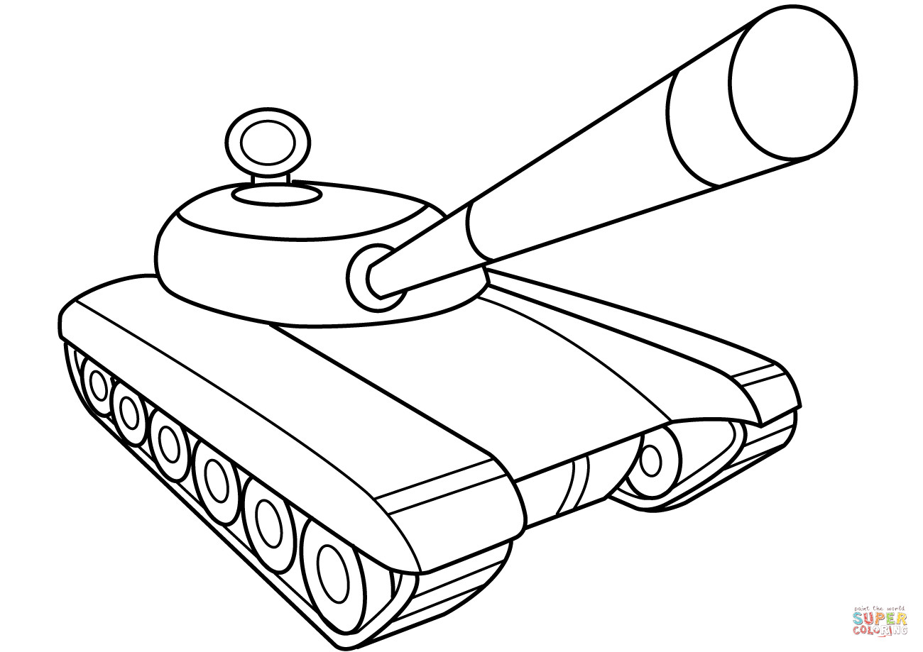 Tanks Coloring Pages  Army Tank coloring page