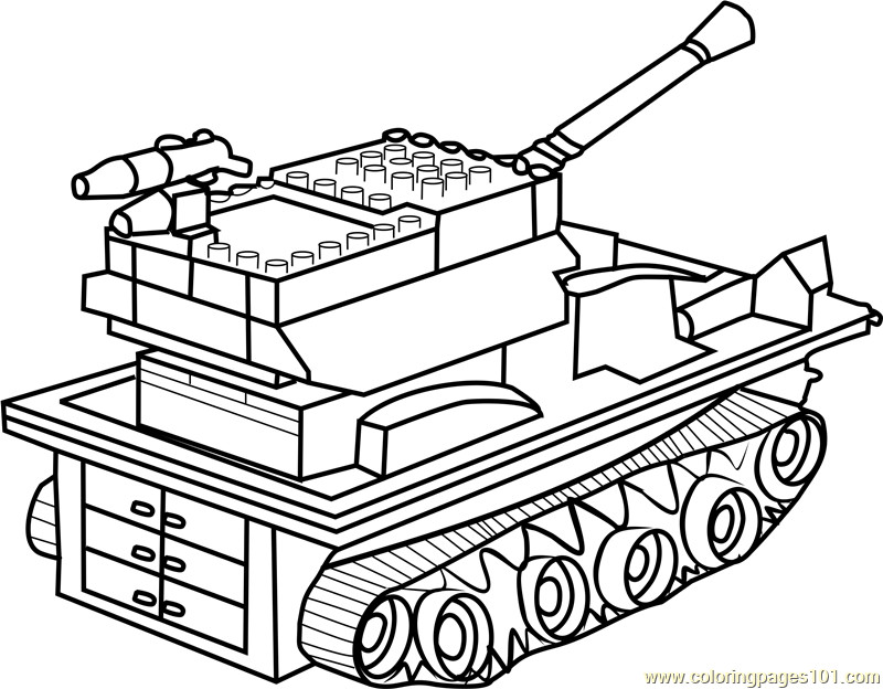 Tanks Coloring Pages  Lego Tank Coloring Page Free Tanks Coloring Pages