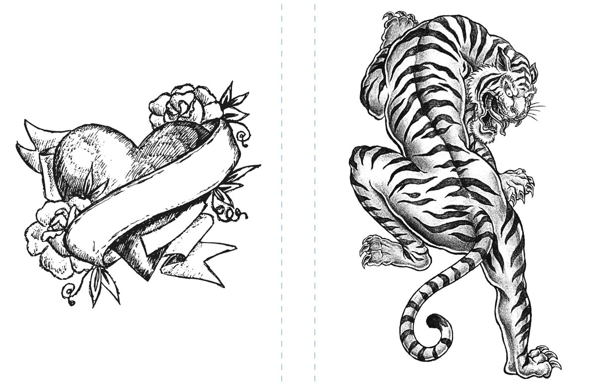 Tattoo Coloring Pages For Adults  Free Tiger Coloring Page to Print Adult Coloring Pages