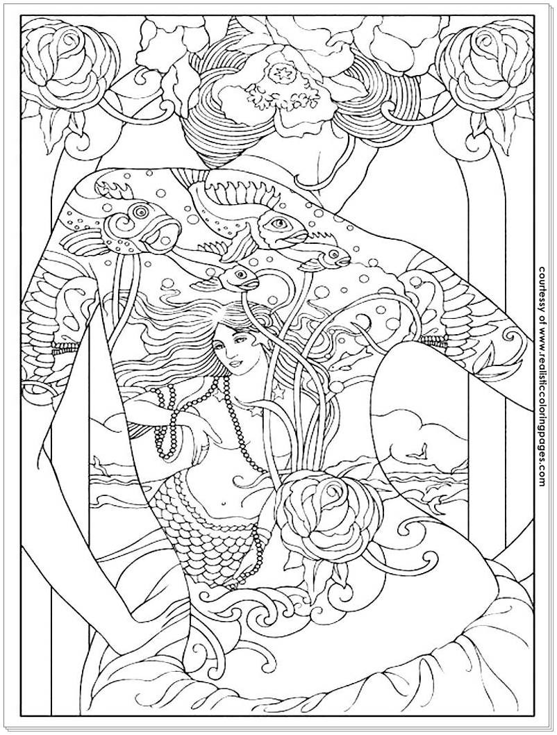 Tattoo Coloring Pages For Adults  8 Tattoo Design Adults Coloring Pages