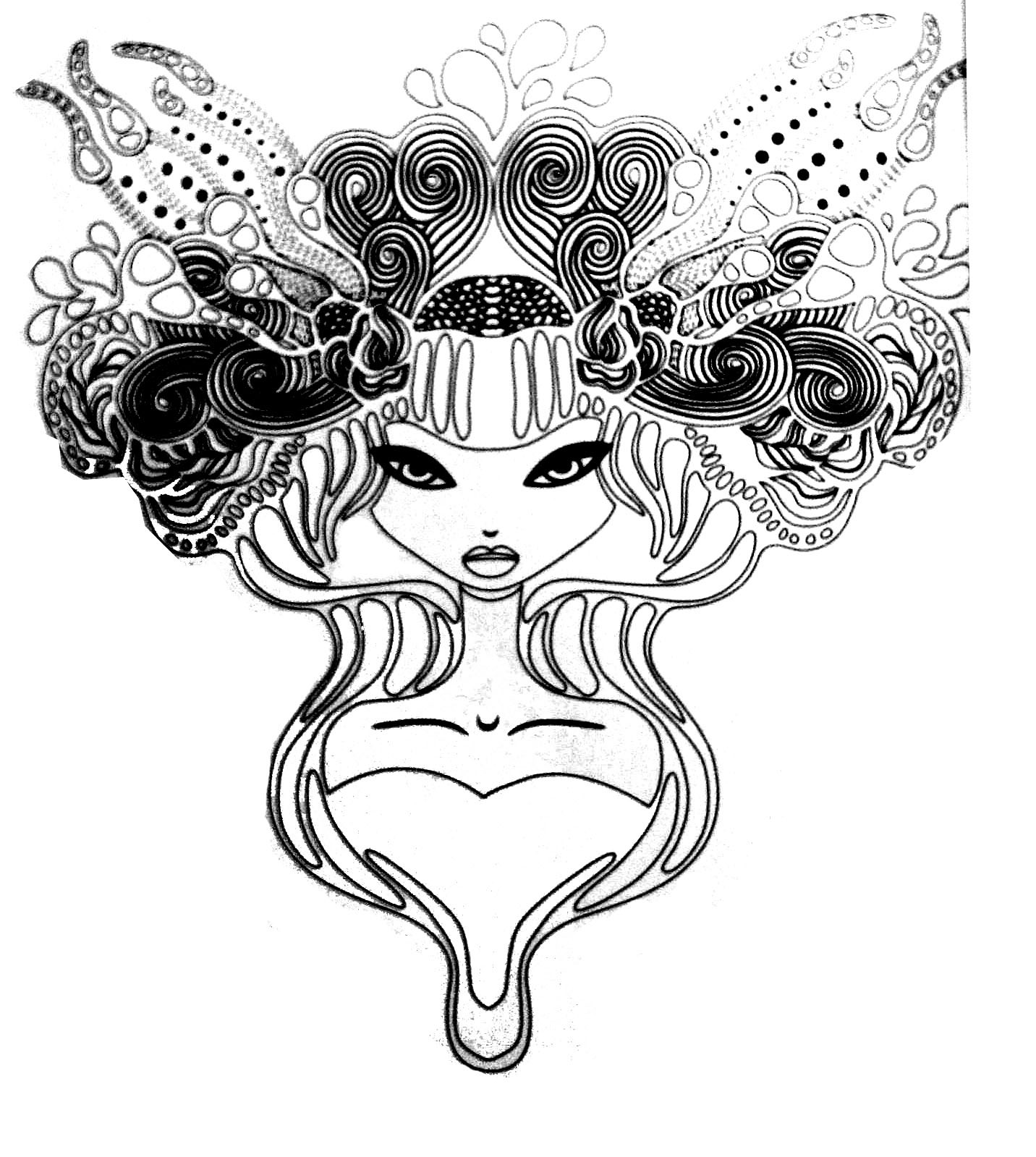Tattoo Coloring Pages For Adults  Tattoo princess Tattoos Adult Coloring Pages Page 2