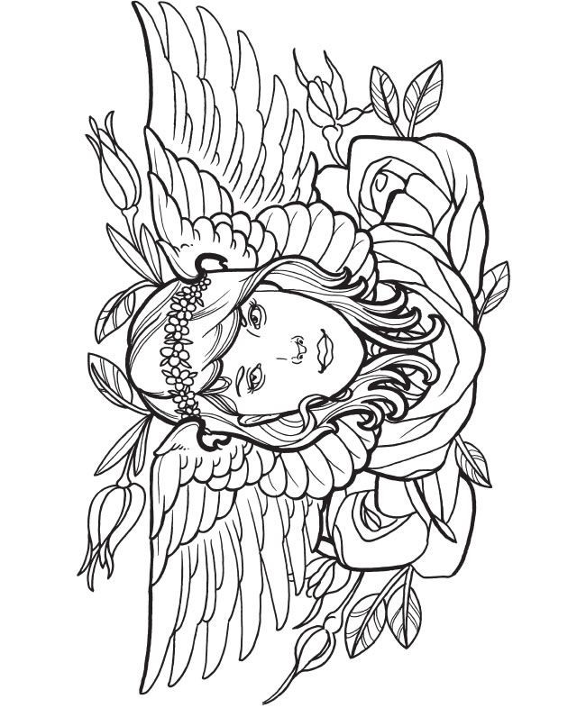 Tattoo Coloring Pages For Adults  35 Tattoo Coloring Pages ColoringStar