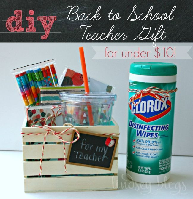 Best ideas about Teacher Gift Basket Ideas . Save or Pin DIY Back to School Teacher Gift Idea [for under $10 Now.