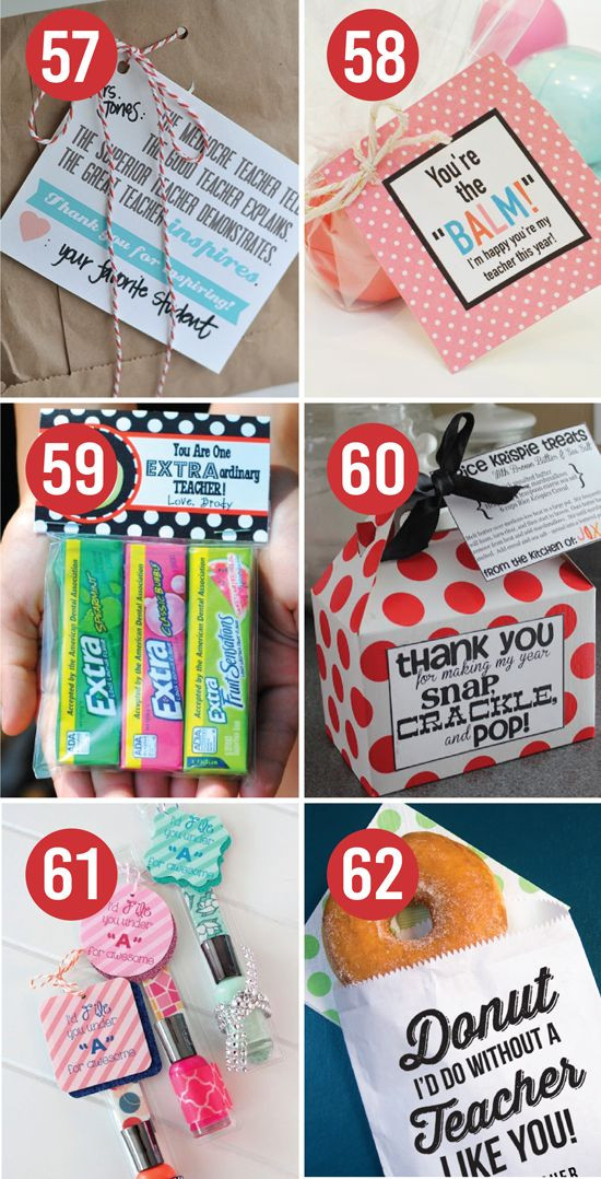 Teacher Thank You Gift Ideas  Quick and Easy Teacher Appreciation Gifts And Ideas