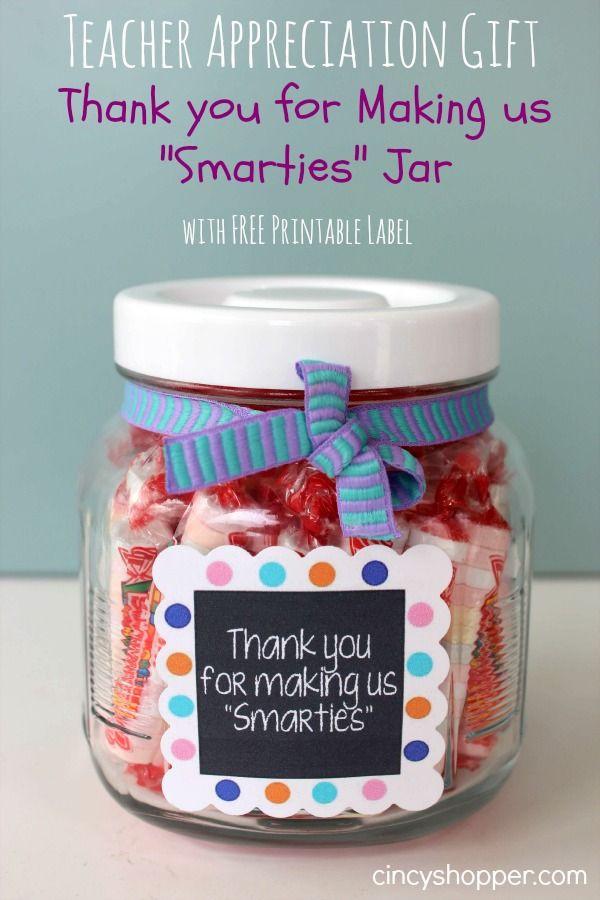 Teacher Thank You Gift Ideas  Quick & Easy Teacher Appreciation Gift Thank You for