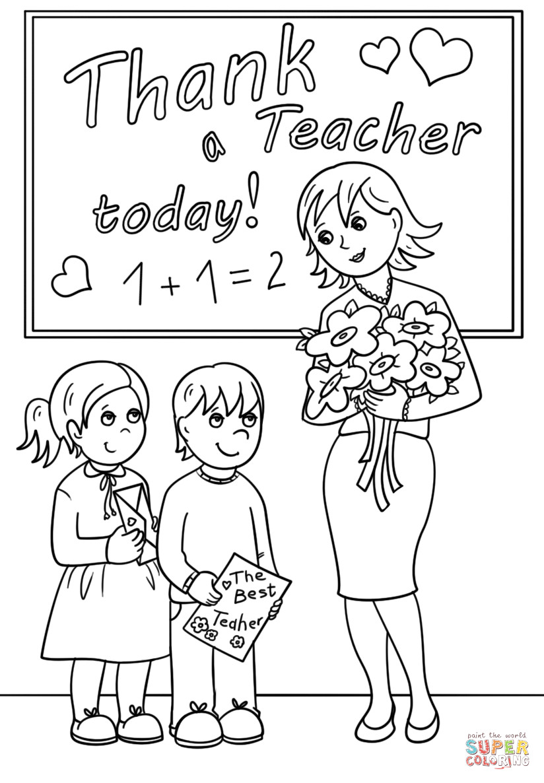 Teachers Coloring Pages  Teacher Coloring Pages
