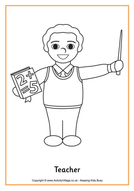 Teachers Coloring Pages  Teacher Colouring Page 3