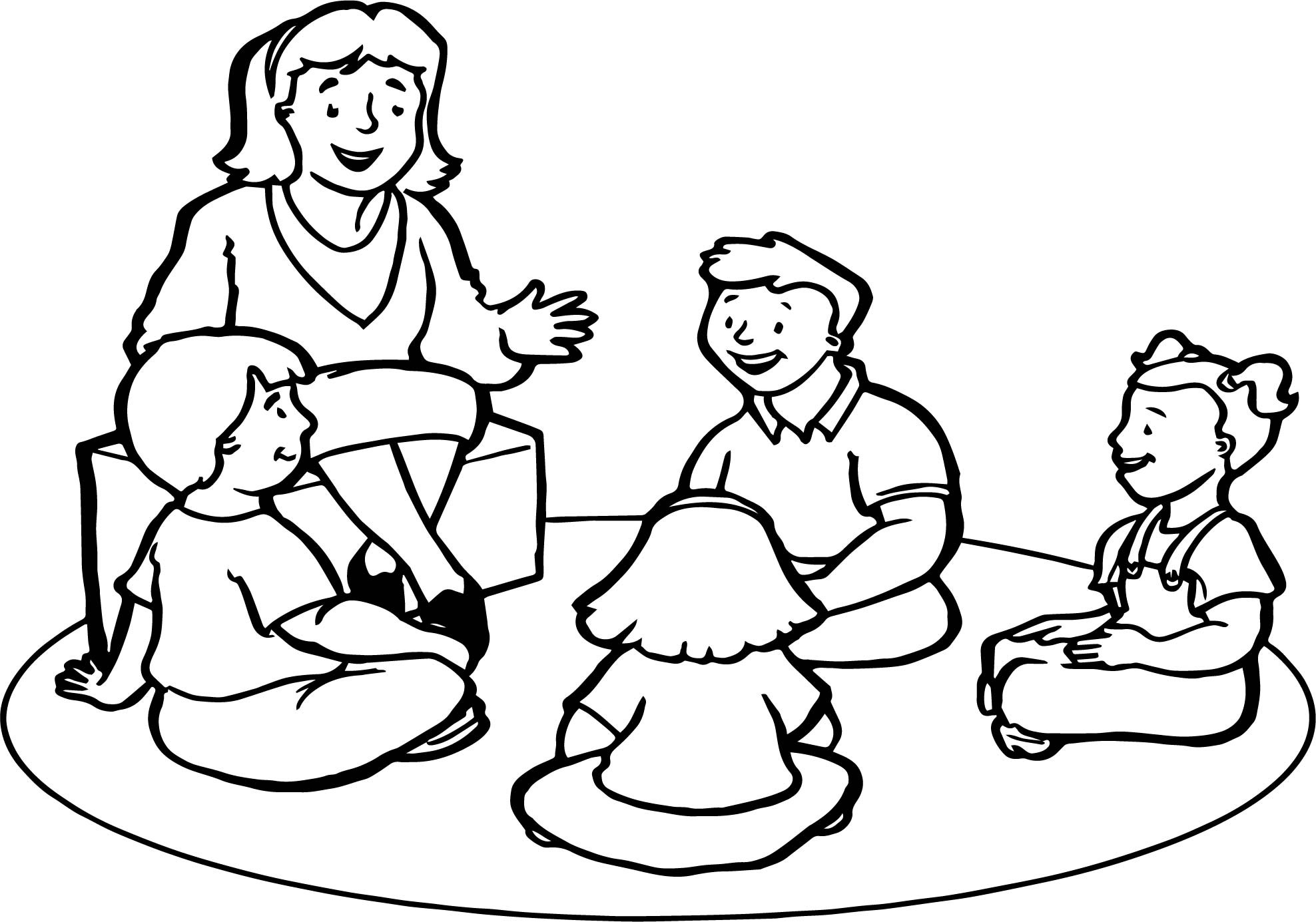 Teachers Coloring Pages  English Teacher Childrens Coloring Page