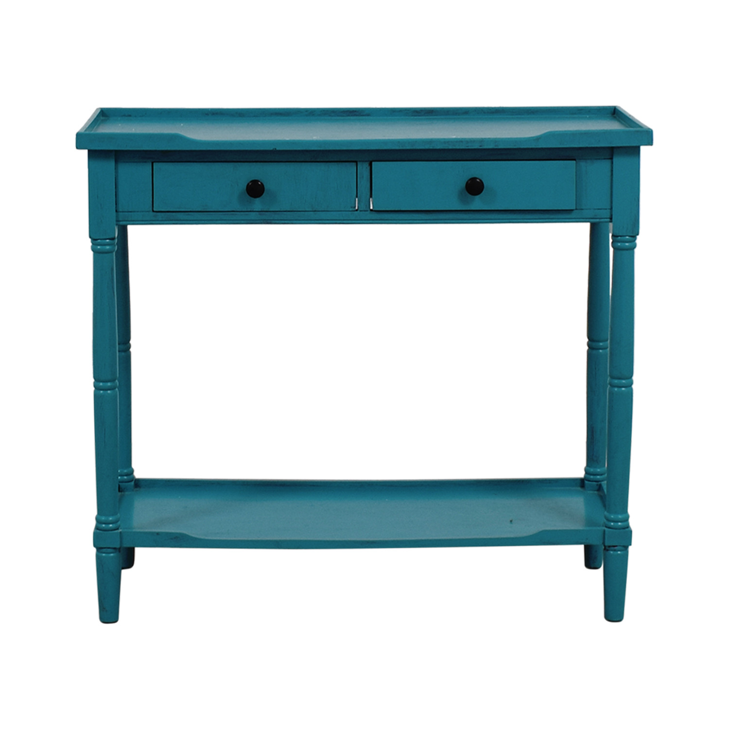 Best ideas about Teal Entryway Table . Save or Pin OFF Crate and Barrel Crate & Barrel Copper Top Side Now.