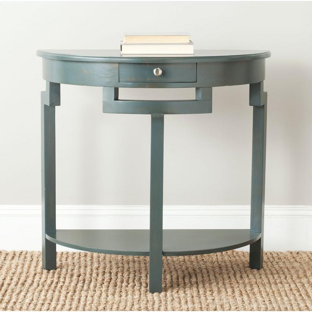 Best ideas about Teal Entryway Table . Save or Pin Safavieh Liana Steel Teal Storage Console Table AMH6623B Now.