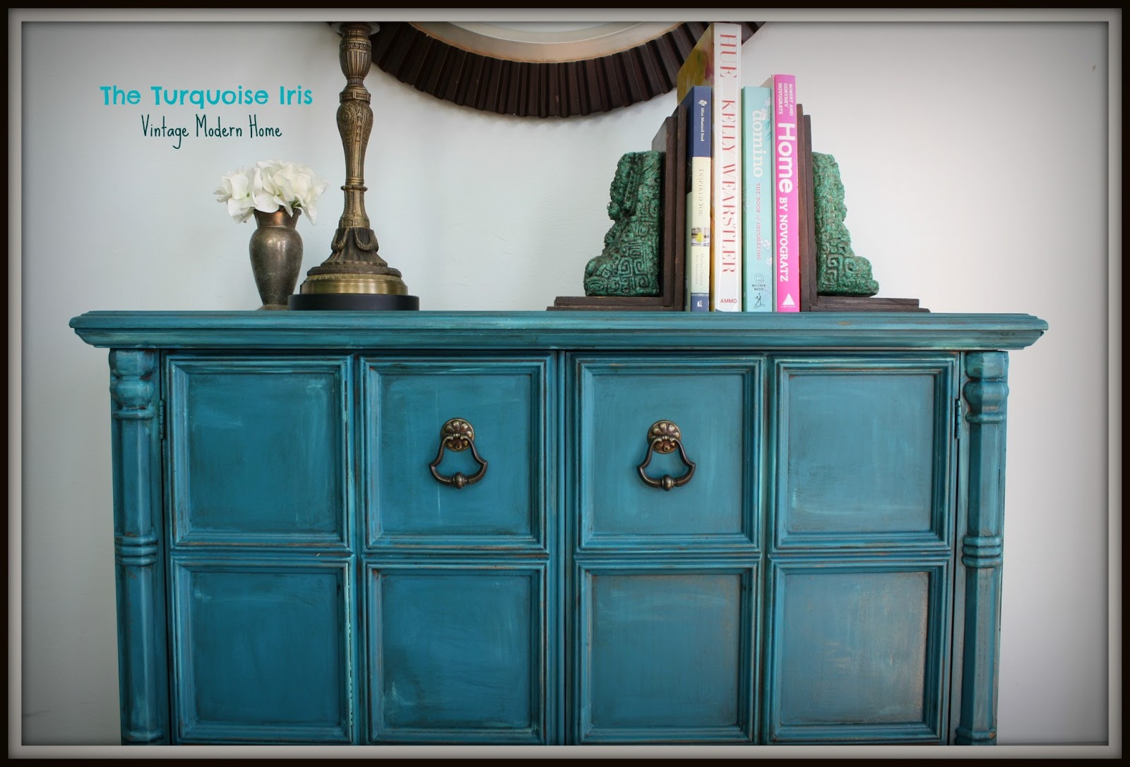 Best ideas about Teal Entryway Table . Save or Pin The Turquoise Iris Furniture & Art Teal Vintage Foyer Table Now.