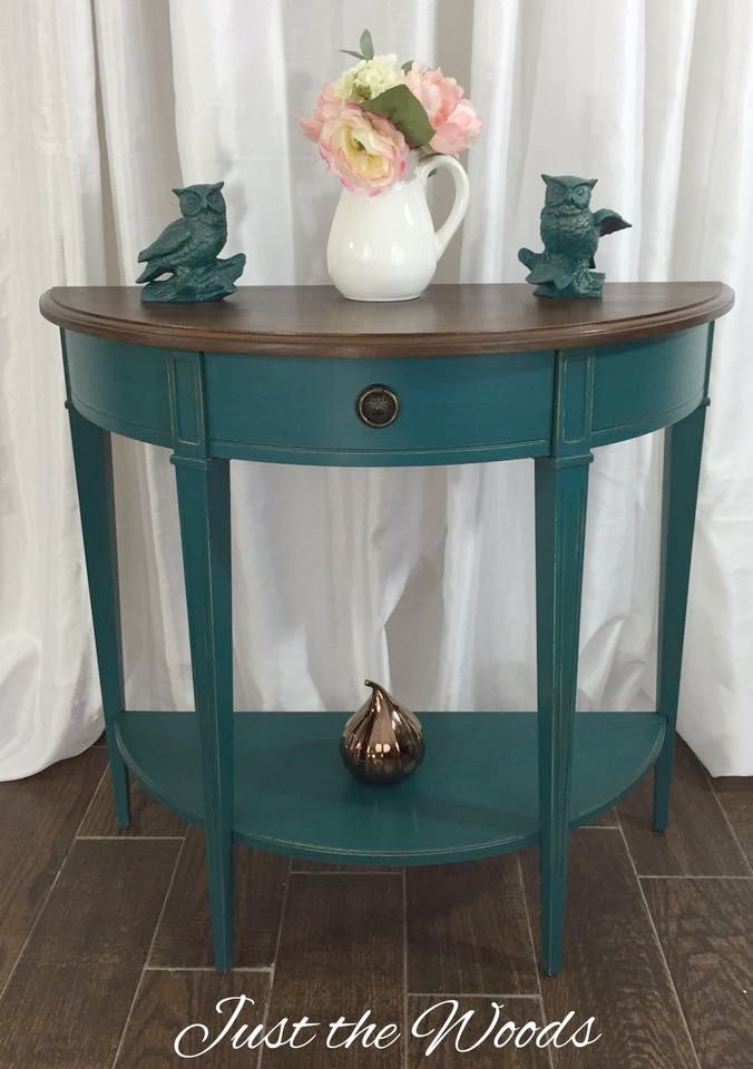 Best ideas about Teal Entryway Table . Save or Pin Teal Painted Furniture Now.