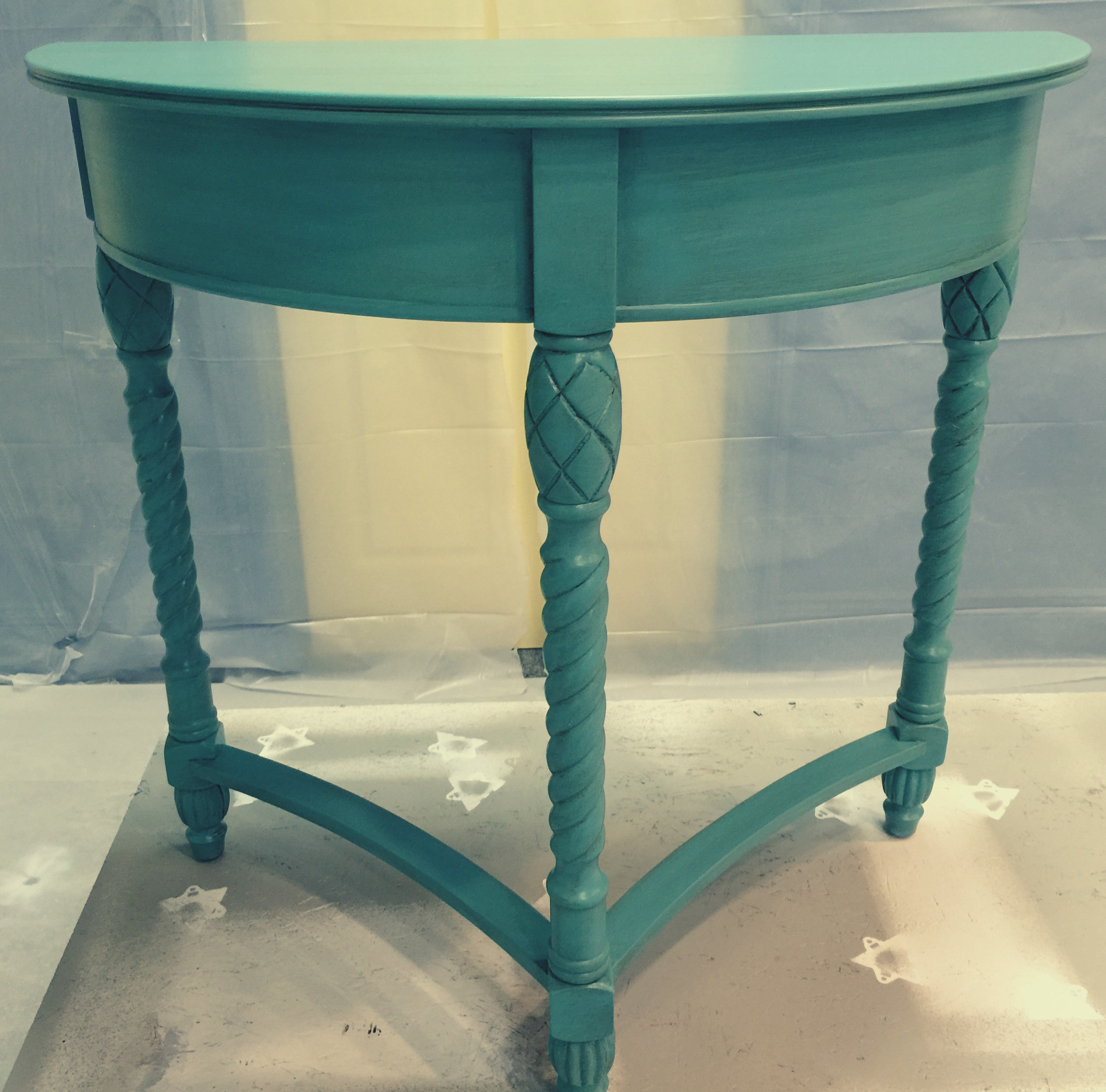 Best ideas about Teal Entryway Table . Save or Pin Bombay Foyer Table Fresh Vintage NC Now.